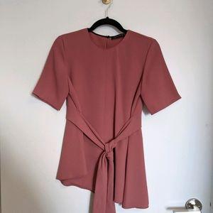 Zara Mauve Pink Tunic Top Size Small